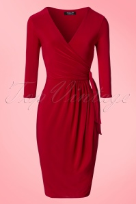 Vintage Chic Side Tie Wrap Dress 100 20 21185 20170223 0002W