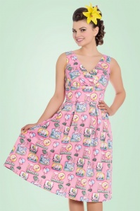 Bunny Maxine 50s Pink Flamingo Dress 102 29 21079 20170323 01