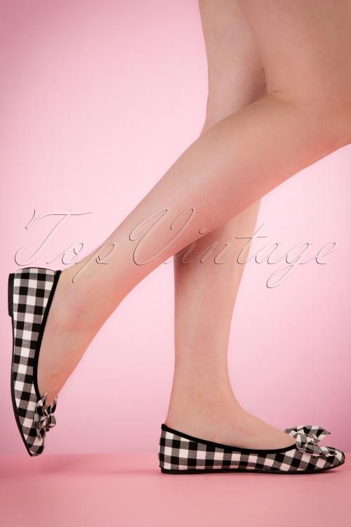 Lulu Hun Naomi Gingham Ballerinas 410 14 21687 03222017 005W