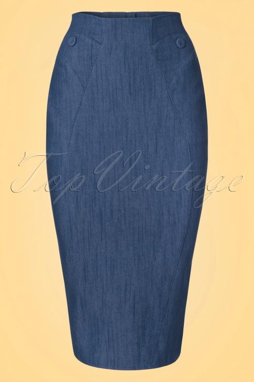 Miss Candyfloss Denim Pencil Skirt 120 20 20626 20170323 0003