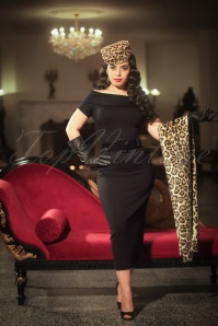 Vintage Diva Jazmin Dress in Black 20544 20170227 0003w