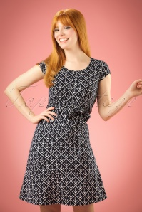 60s Ella Nautique Dress in Nuit Blue