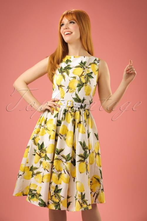 WLindy Bop Audrey Lemon Print Swing Dress 102 59 21213 20170301 1W