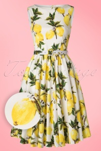 Lindy Bop Audrey Lemon Print Swing Dress 102 59 21213 20170301 0017W1