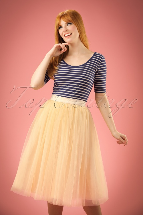 Lindy Bop Edie Champangne Tule Swing Swing Skirt 122 51 21227 20170301 0001W