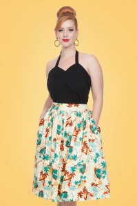 Vixen Lene Tropical Beige Swing Skirt 122 57 20464 20170324 0011