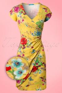 Lien & Giel 60s Buenos Yellow Floral Dress 106 89 19933 20170208 0004W1
