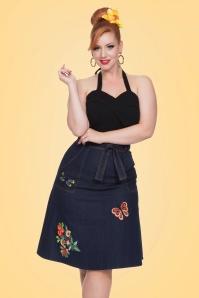 Vixen Naomi A Line Denim Skirt 123 30 20459 20170324 01