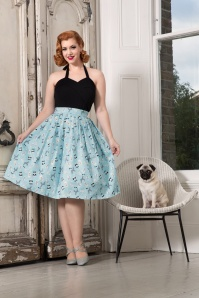 50s Wendy Dog Skirt in Light Blue