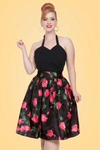 50s Nellie Roses Skirt in Black