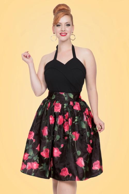Vixen Nellie Black Roses Skirt 122 14 20462 20170324 01