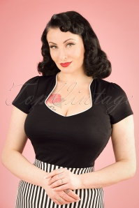 Steady Clothing 50s Sophia Top in Black and White