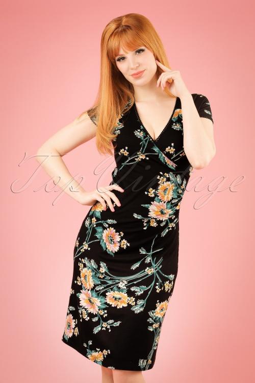 King Louie Black Floral Cross Dress 100 14 20248 20170214 0009W