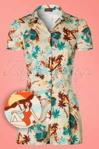 Vixen Dakota Beige Tropical Playsuit 132 58 20500 20170324 0002W1