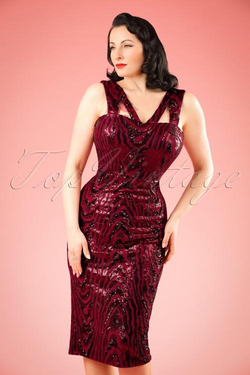 Vintage Chic V Neck Sequin Dress 100 20 20240 20161129 0006w
