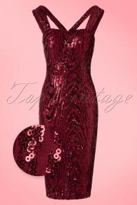 Vintage Chic V Neck Sequin Dress 100 20 20240 20161129 0002W1