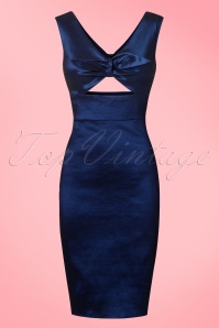 Dolly and Dotty Blue Shiny Pencil Dress 100 30 20725 20170103 0005w
