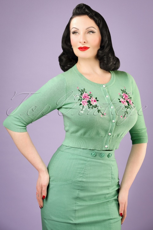 Collectif Clothing Lucy Romantic Floral Cardigan 20751 20121224 0001bw