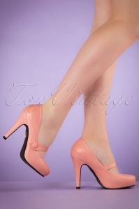 40s Dolly Pumps in Pink