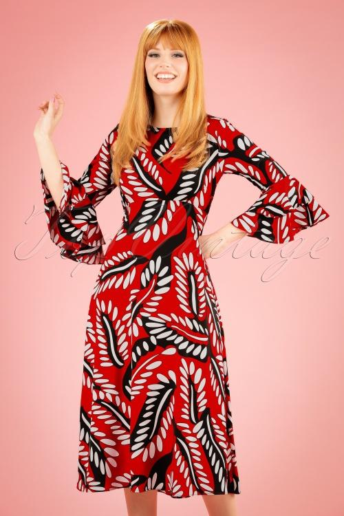 Traffic People 70s Red Maxi Dress 108 27 19873 20170210 0011W