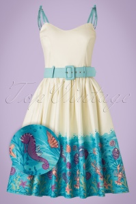 Collectif Clothing Jade Seashell Border Swing Dress 20835 20161128 0016aW