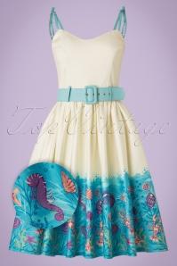 Collectif Clothing Jade Seashell Border Swing Dress 20835 20161128 0016aW