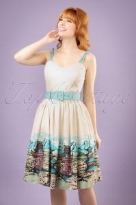Collectif Clothing Jade Pagoda Border Print Swing Skirt 20833 20121224 0001W