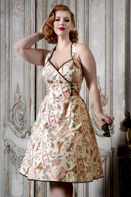 Vixen Claudine Swing Dress in Cream 102 57 20455 20170327 0013