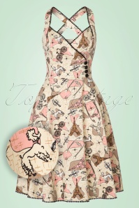 Vixen Claudine Swing Dress in Cream 102 57 20455 20170327 0005W1