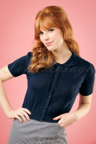 Collectif Clothing Carly Cardigan in Navy 20755 20161130 1w