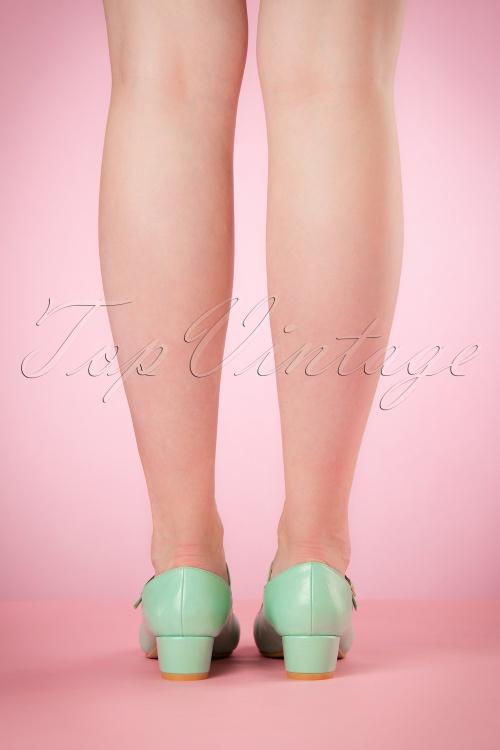 a06f625dd90 Lulu Hun Aqua Chrissie Block Heel Shoes 401 30 20862 03222017 014W