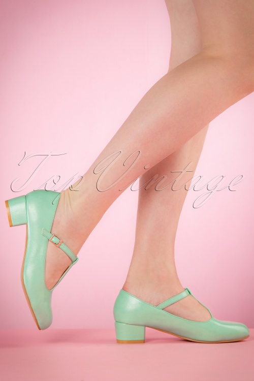 Lulu Hun Aqua Chrissie Block Heel Shoes 401 30 20862 03222017 003W