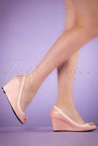 50s Ida Wedge Pumps in Pink