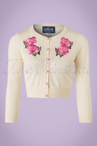 Collectif Clothing Jessie Floral Cardigan in Ivory 20750 20161130 0002W