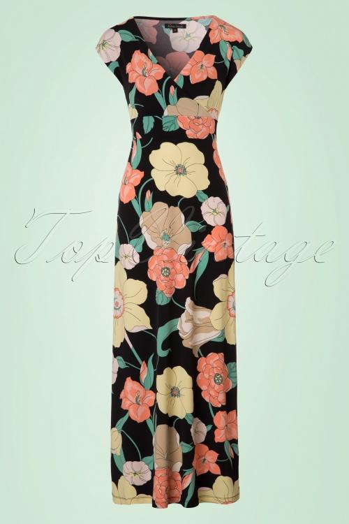 King Louie Lot Floral Maxi Dress in Black 108 14 20289 20170328 0003W