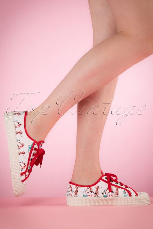 Miss L Fire Red Swimmer Sneakers 451 59 20561 03222017 015W