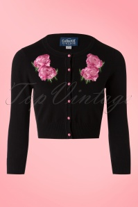 Collectif Clothing Jessie Floral Cardigan in Black 20749 20161130 0002W