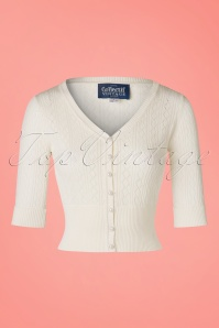 Collectif Clothing Linda Cardigan in Ivory 20636 20161130 0002W