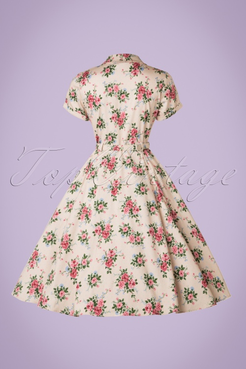 954a284f1a30 Collectif Clothing Caterina 40s Floral Swing Dress 20842 20161128 0013W