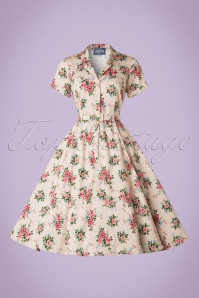 Collectif Clothing Caterina 40s Floral Swing Dress 20842 20161128 0004W