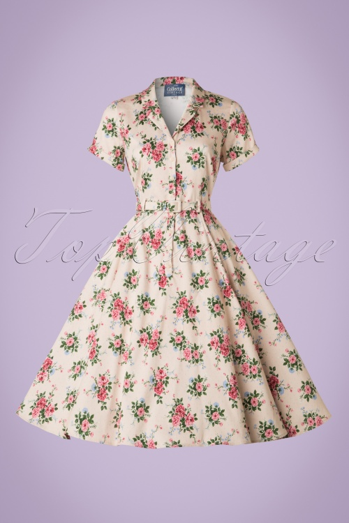 11d1cf4d6e1b Collectif Clothing Caterina 40s Floral Swing Dress 20842 20161128 0004W