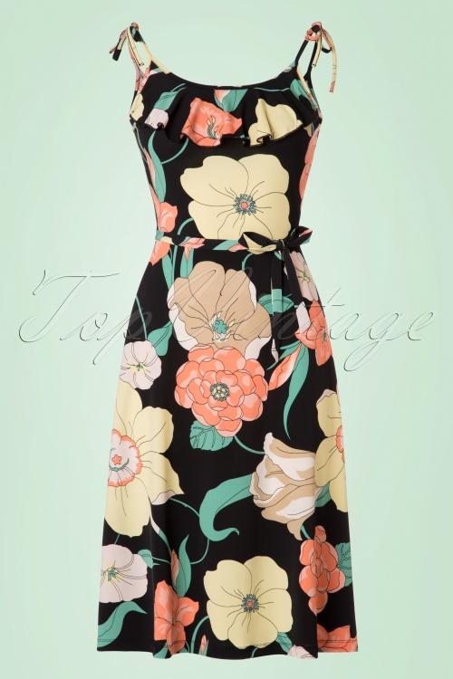 King Louie Viola Black Floral Dress 106 14 20288 20170328 0002W