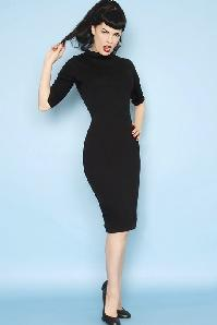 Heart of Haute 60s Super Spy Dress in Black