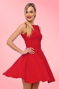 Vintage Chic Super Crepe Red dress 102 20 20990 model04