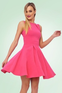 Vintage Chic super crepe Hot Pink Dress 102 22 20989 model04a