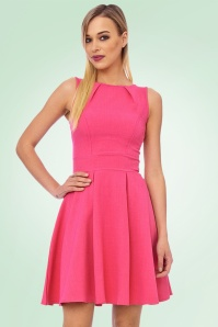 Vintage Chic super crepe Hot Pink Dress 102 22 20989 model02a
