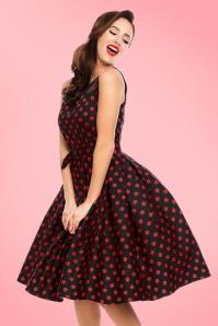 Elizabeth Polkadot Dress Black Red 102 14 20332 model03