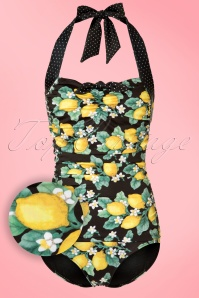 50s Lemonade Swimsuit in Black