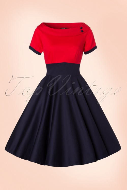70cde6a8178707 Dolly and Dotty Darlene TopVintage Exclusive Swing Dress 102 31 21756  20170328 0004W