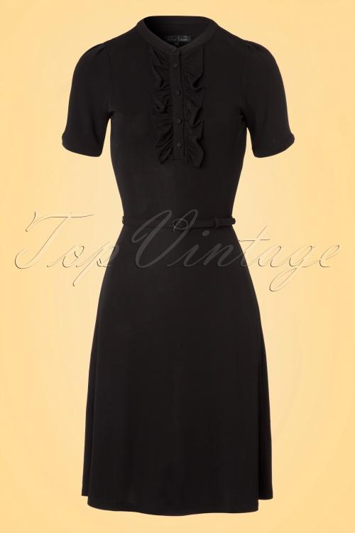 King Louie Gaya Dress in Black 100 10 20633 20170329 0003v
